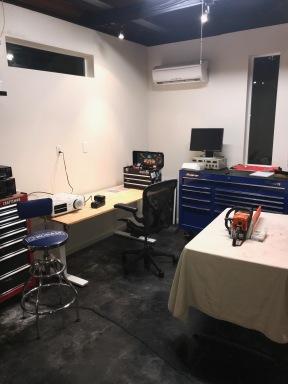 SE corner work area